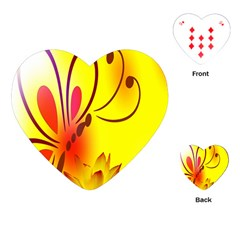 Butterfly Background Wallpaper Texture Playing Cards (Heart)