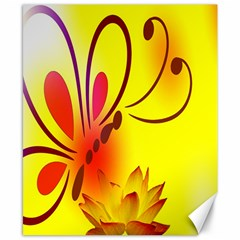 Butterfly Background Wallpaper Texture Canvas 8  X 10