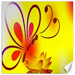 Butterfly Background Wallpaper Texture Canvas 12  x 12