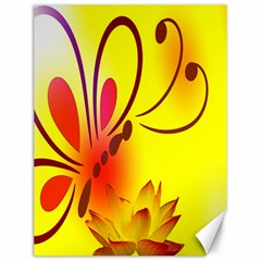 Butterfly Background Wallpaper Texture Canvas 12  x 16