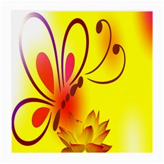 Butterfly Background Wallpaper Texture Medium Glasses Cloth (2-Side)