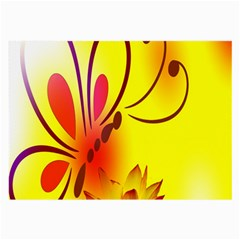 Butterfly Background Wallpaper Texture Large Glasses Cloth (2-Side)