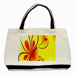 Butterfly Background Wallpaper Texture Basic Tote Bag (Two Sides)