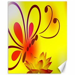 Butterfly Background Wallpaper Texture Canvas 11  x 14