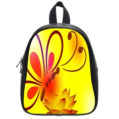 Butterfly Background Wallpaper Texture School Bags (Small)