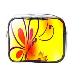 Butterfly Background Wallpaper Texture Mini Toiletries Bags