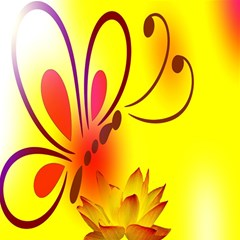 Butterfly Background Wallpaper Texture Magic Photo Cubes