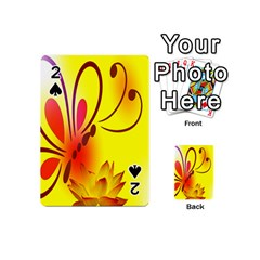 Butterfly Background Wallpaper Texture Playing Cards 54 (Mini)