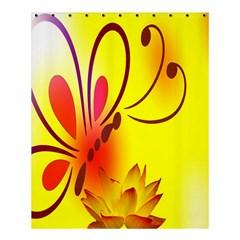 Butterfly Background Wallpaper Texture Shower Curtain 60  X 72  (medium)