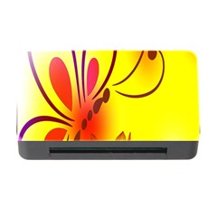 Butterfly Background Wallpaper Texture Memory Card Reader with CF