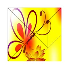 Butterfly Background Wallpaper Texture Acrylic Tangram Puzzle (6  x 6 )