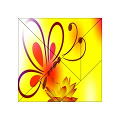 Butterfly Background Wallpaper Texture Acrylic Tangram Puzzle (4  x 4 )