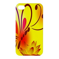 Butterfly Background Wallpaper Texture Apple iPhone 4/4S Premium Hardshell Case