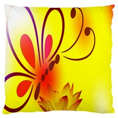 Butterfly Background Wallpaper Texture Large Cushion Case (one Side)