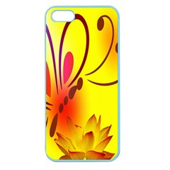 Butterfly Background Wallpaper Texture Apple Seamless iPhone 5 Case (Color)