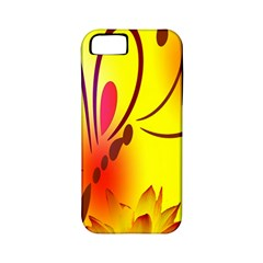 Butterfly Background Wallpaper Texture Apple Iphone 5 Classic Hardshell Case (pc+silicone)