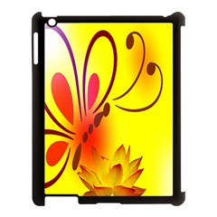 Butterfly Background Wallpaper Texture Apple iPad 3/4 Case (Black)