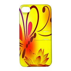 Butterfly Background Wallpaper Texture Apple iPhone 4/4S Hardshell Case with Stand