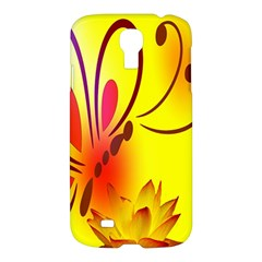 Butterfly Background Wallpaper Texture Samsung Galaxy S4 I9500/i9505 Hardshell Case