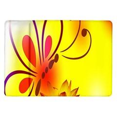 Butterfly Background Wallpaper Texture Samsung Galaxy Tab 10 1  P7500 Flip Case