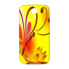 Butterfly Background Wallpaper Texture Samsung Galaxy S4 I9500/I9505  Hardshell Back Case