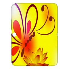 Butterfly Background Wallpaper Texture Samsung Galaxy Tab 3 (10 1 ) P5200 Hardshell Case