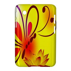 Butterfly Background Wallpaper Texture Samsung Galaxy Tab 2 (7 ) P3100 Hardshell Case