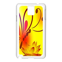 Butterfly Background Wallpaper Texture Samsung Galaxy Note 3 N9005 Case (white)