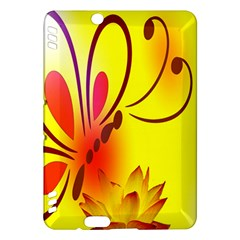 Butterfly Background Wallpaper Texture Kindle Fire HDX Hardshell Case