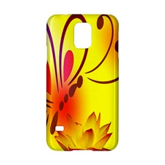 Butterfly Background Wallpaper Texture Samsung Galaxy S5 Hardshell Case