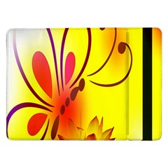 Butterfly Background Wallpaper Texture Samsung Galaxy Tab Pro 12 2  Flip Case