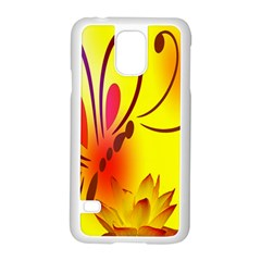 Butterfly Background Wallpaper Texture Samsung Galaxy S5 Case (White)