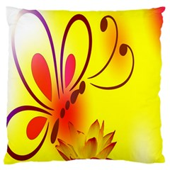 Butterfly Background Wallpaper Texture Standard Flano Cushion Case (one Side)