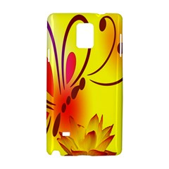 Butterfly Background Wallpaper Texture Samsung Galaxy Note 4 Hardshell Case