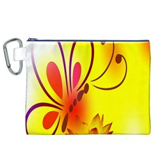 Butterfly Background Wallpaper Texture Canvas Cosmetic Bag (xl)