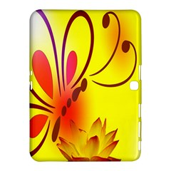 Butterfly Background Wallpaper Texture Samsung Galaxy Tab 4 (10 1 ) Hardshell Case