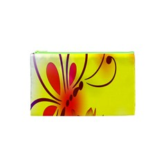 Butterfly Background Wallpaper Texture Cosmetic Bag (XS)