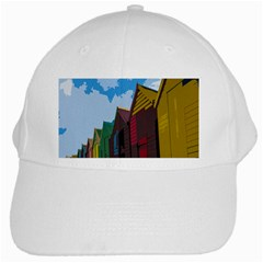 Brightly Colored Dressing Huts White Cap