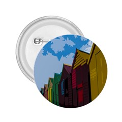 Brightly Colored Dressing Huts 2.25  Buttons