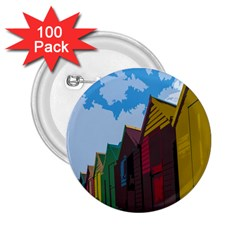Brightly Colored Dressing Huts 2 25  Buttons (100 Pack)