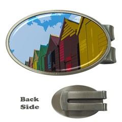 Brightly Colored Dressing Huts Money Clips (Oval)