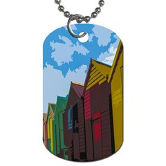 Brightly Colored Dressing Huts Dog Tag (two Sides)