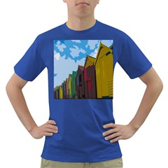 Brightly Colored Dressing Huts Dark T Shirt