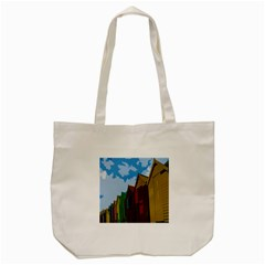 Brightly Colored Dressing Huts Tote Bag (cream)