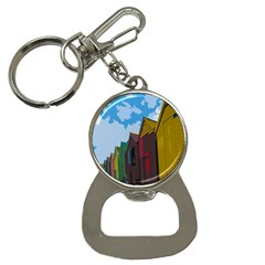 Brightly Colored Dressing Huts Button Necklaces