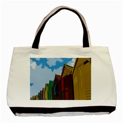 Brightly Colored Dressing Huts Basic Tote Bag
