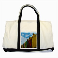 Brightly Colored Dressing Huts Two Tone Tote Bag