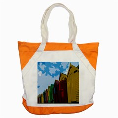Brightly Colored Dressing Huts Accent Tote Bag