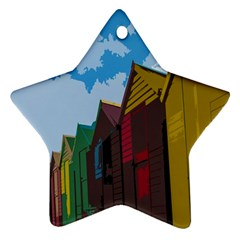 Brightly Colored Dressing Huts Star Ornament (two Sides)
