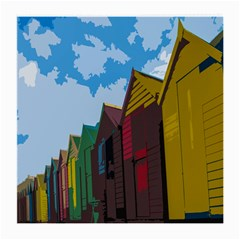 Brightly Colored Dressing Huts Medium Glasses Cloth (2-Side)